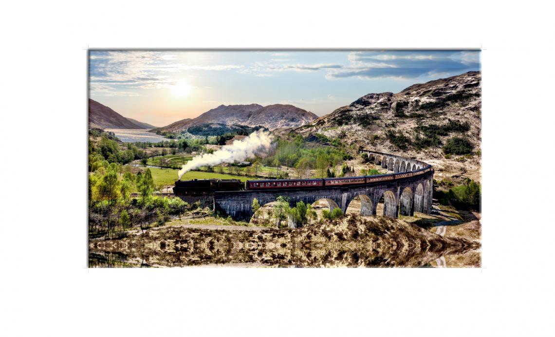 Glenfinnan železničný viadukt v Škótsku